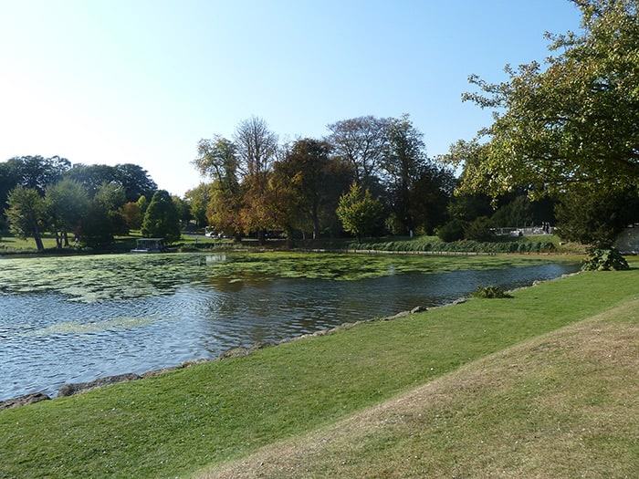Jardim do Castelo de Leeds na Inglaterra