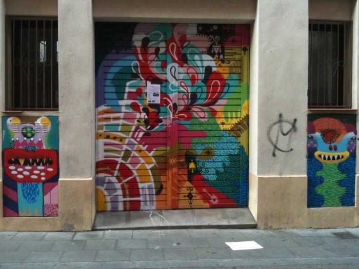Grafite no Bairro Graça em Bacelona