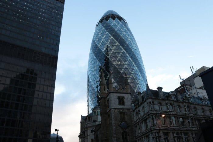 Moderna arquitetura de Londres
