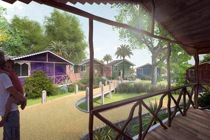 Projeto mostra como devem ficar as cabanas da Vila no London Zoo