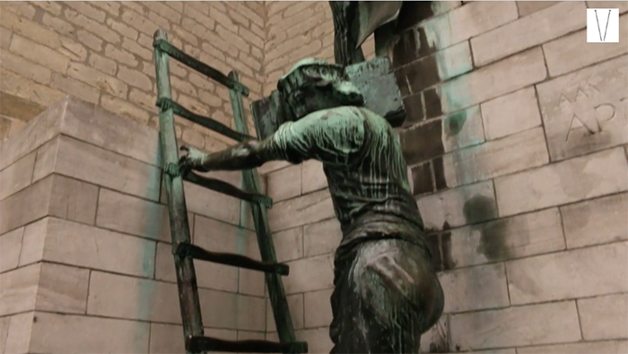 escultura na antuérpia