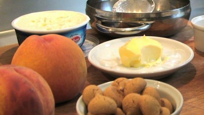 receita de pêssego assado