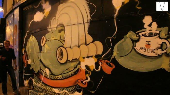 o grafite de onesto em londres