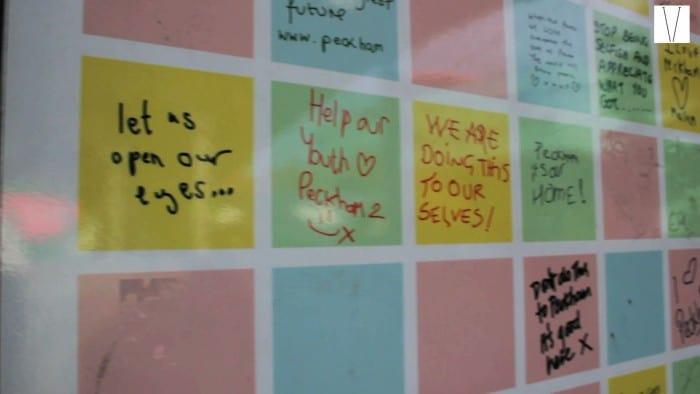 peace wall em peckham