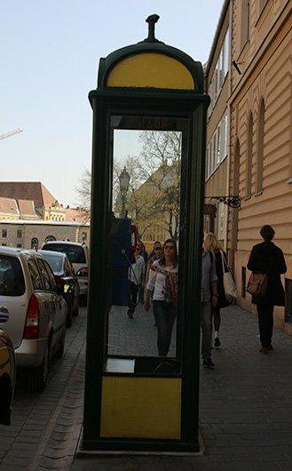 Cabine de telefone em Budapeste