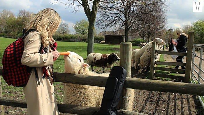 Mileine Aliaga na Mudchute Park Farm
