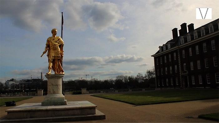 estátua de charles II no royal hospital chelsea