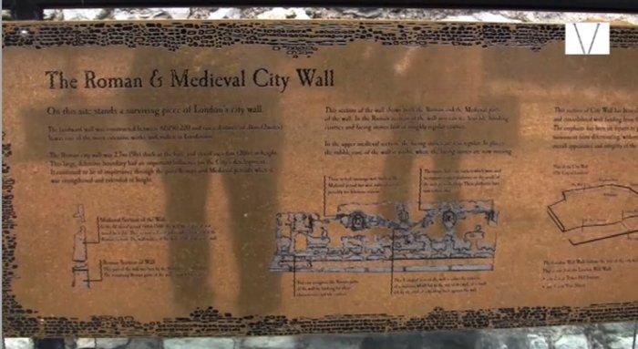 muro romano em londres