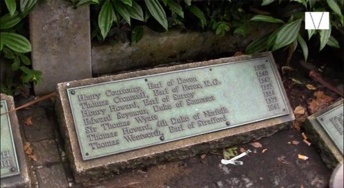 placa de pessoas decapitadas na torre de londres