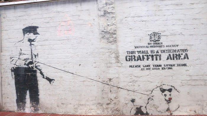 arte de banksy em londres