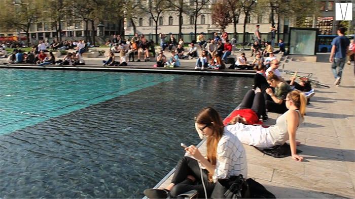 piscina no centro de budapeste