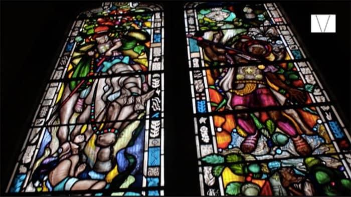 vitral em homenagem a churchill