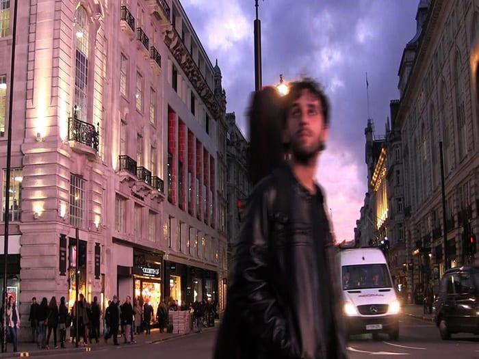 Ted Simões gravando em Londres