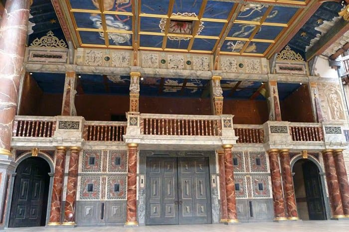interior do globe theatre