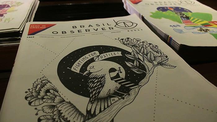 arte na capa brasil observer