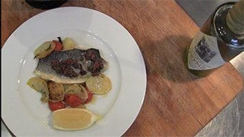 receita de peixe com molho tapenade