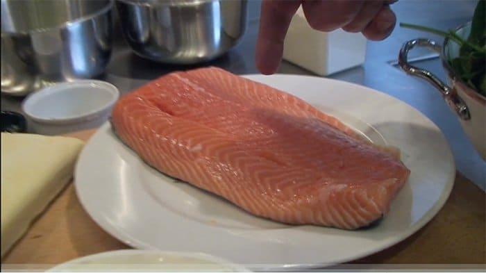 salmão en croute