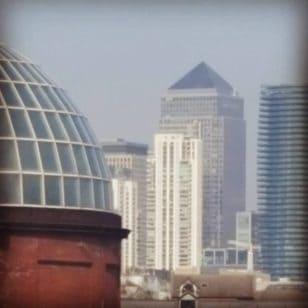 canarywharf vista de greenwich london