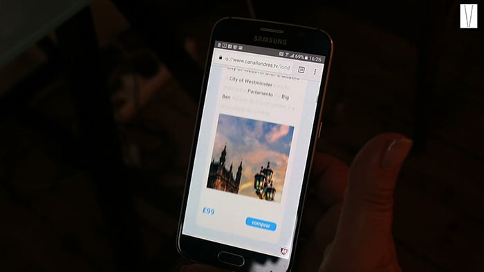 londres tour no celular