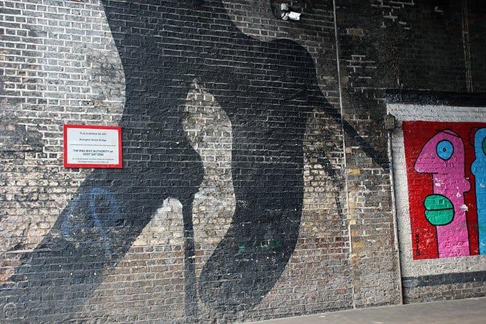 grafite em shoreditch londres