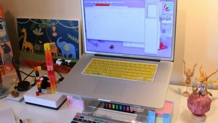 computador do ilustrador