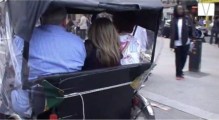 passeio de rickshaw em londres
