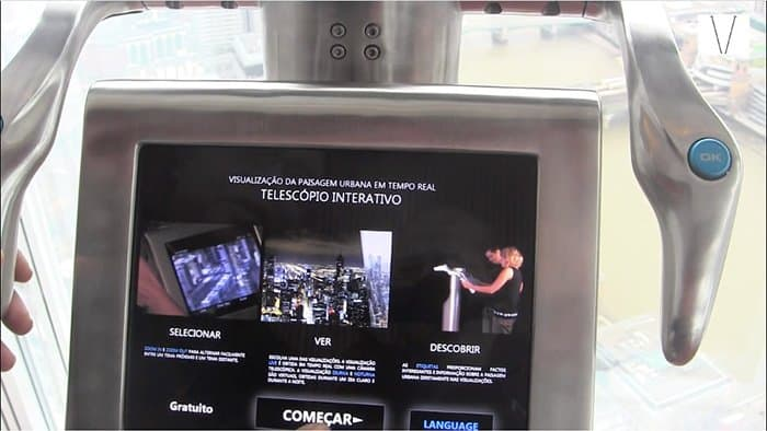 telescopio interativo