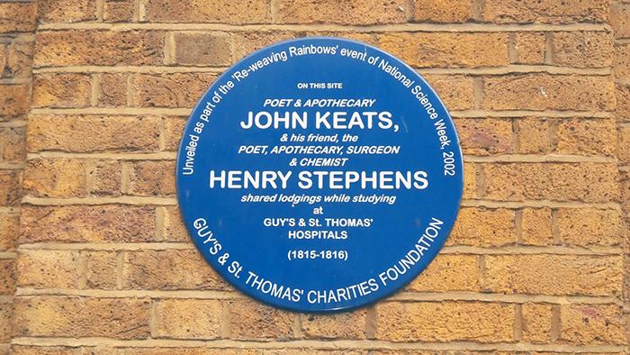 placa azul keats