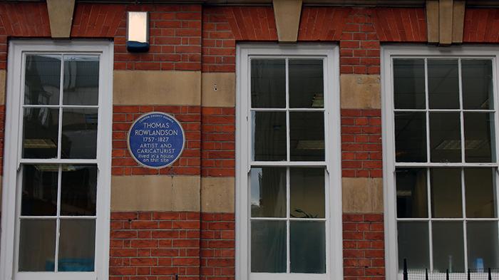 placa azul nas casas de londres