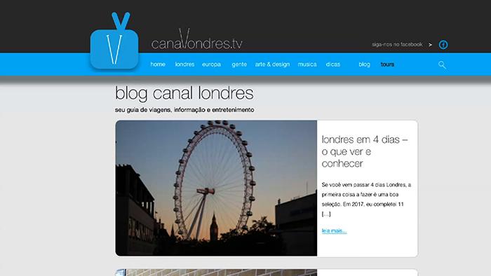 blog do canal londres