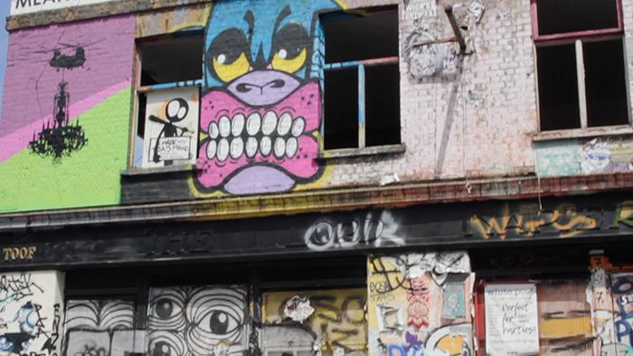 Arte de rua em Hackney Wick