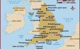 Mapa da Inglaterra